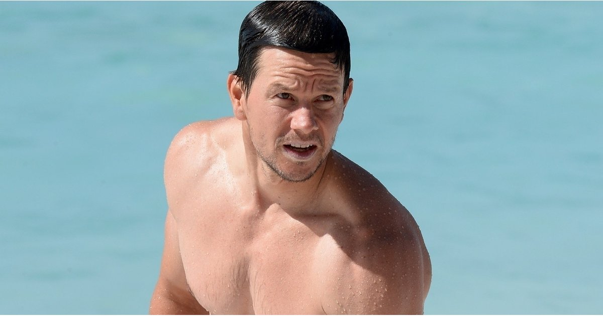 Mark Wahlberg Is Looking Buff as Hell While on the Beach in Barbados