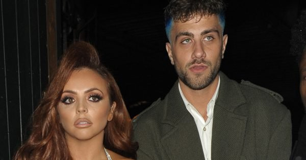 Jesy Nelson leaves club as boyfriend Harry James gets into a fight