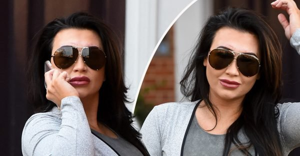 Lauren Goodger flaunts VERY pert derrière and show-stopping curves in skintight outfit