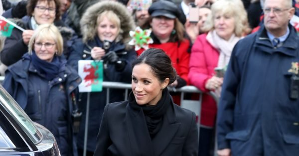 Prince Harry and Meghan Markle arrive in Wales