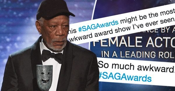 SAG Awards 2018 awkward moments: From Judi Dench spelling error to Morgan Freeman's speech