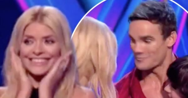 Dancing On Ice: Max Evans dodges Holly Willoughby's kiss