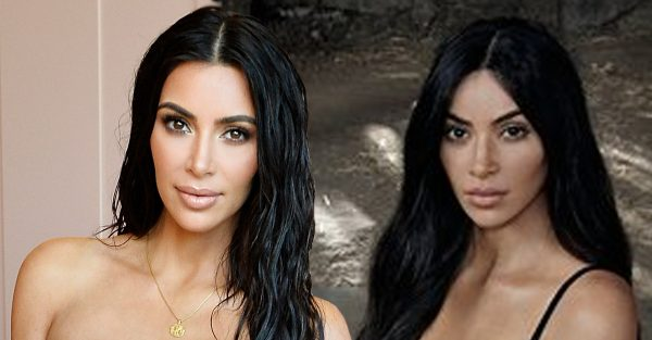 Kim Kardashian looks dramatically different in new Calvin Klein underwear advert
