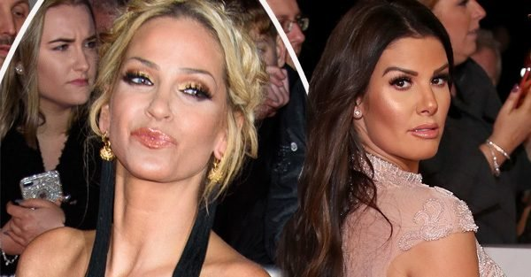 Sarah Harding kicks off at Rebekah Vardy at NTAs