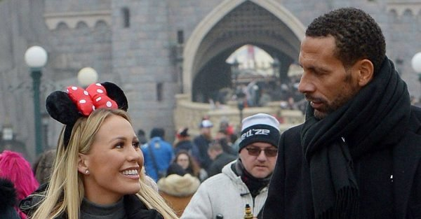 Kate Wright and Rio Ferdinand enjoy loved-up Paris trip