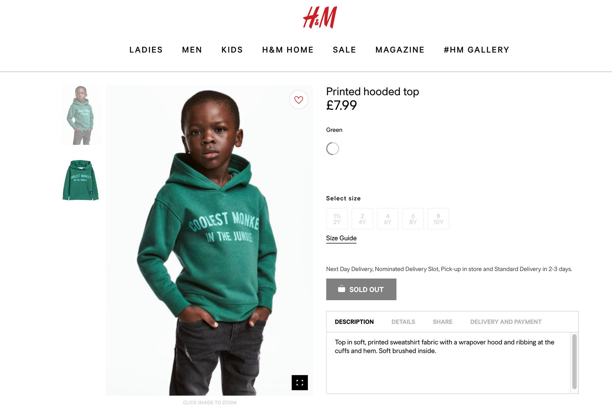 "H&M child model and family had to move over ""security concerns'"