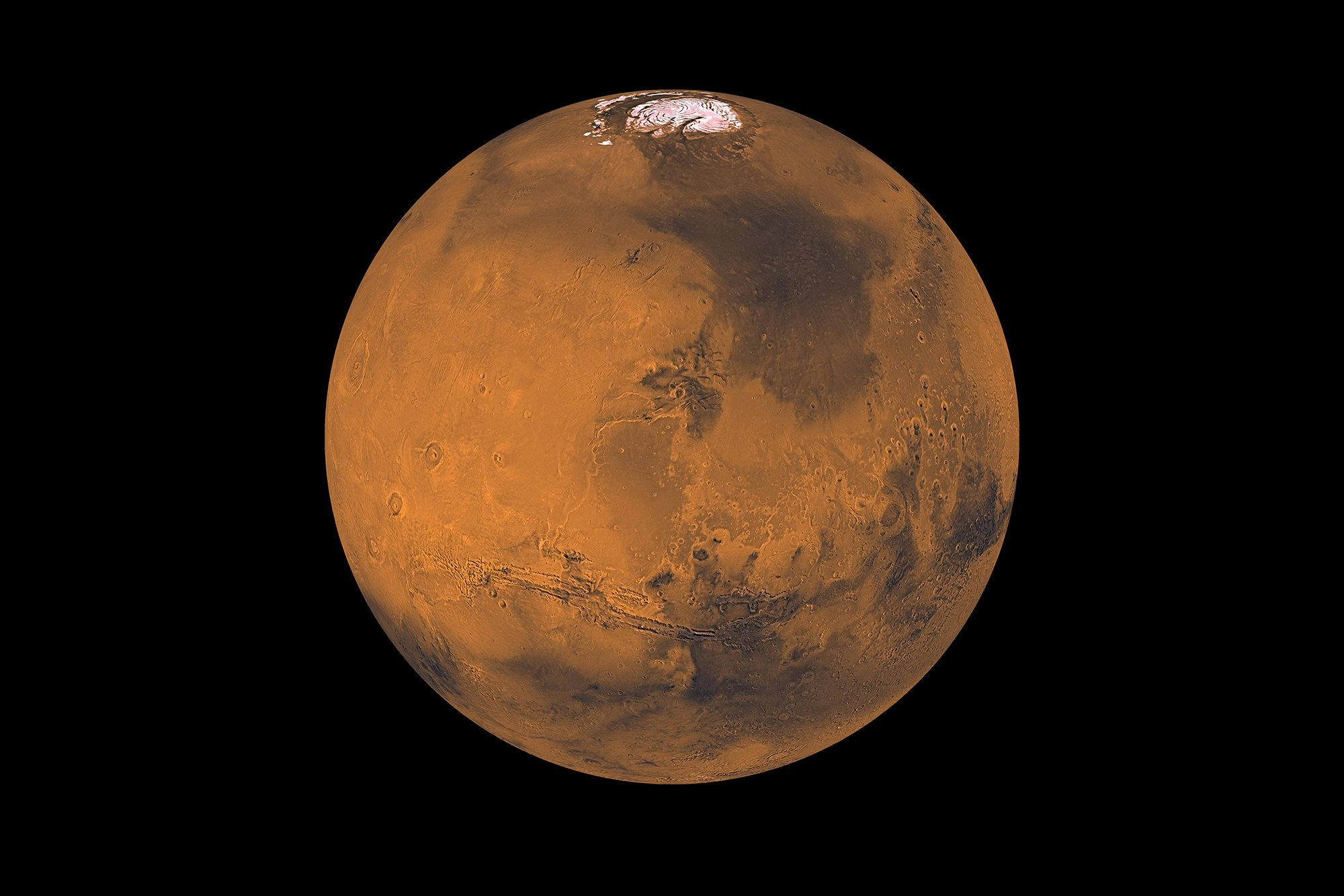 Scientists find ice below Mars' surface
