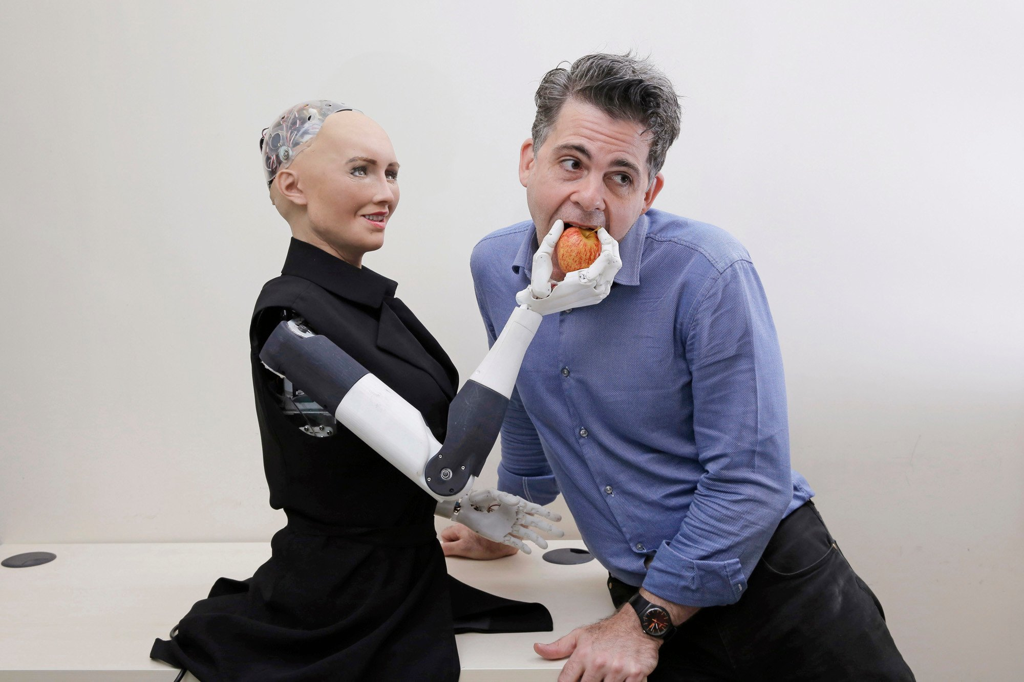 Lifelike robots are being designed to win human trust