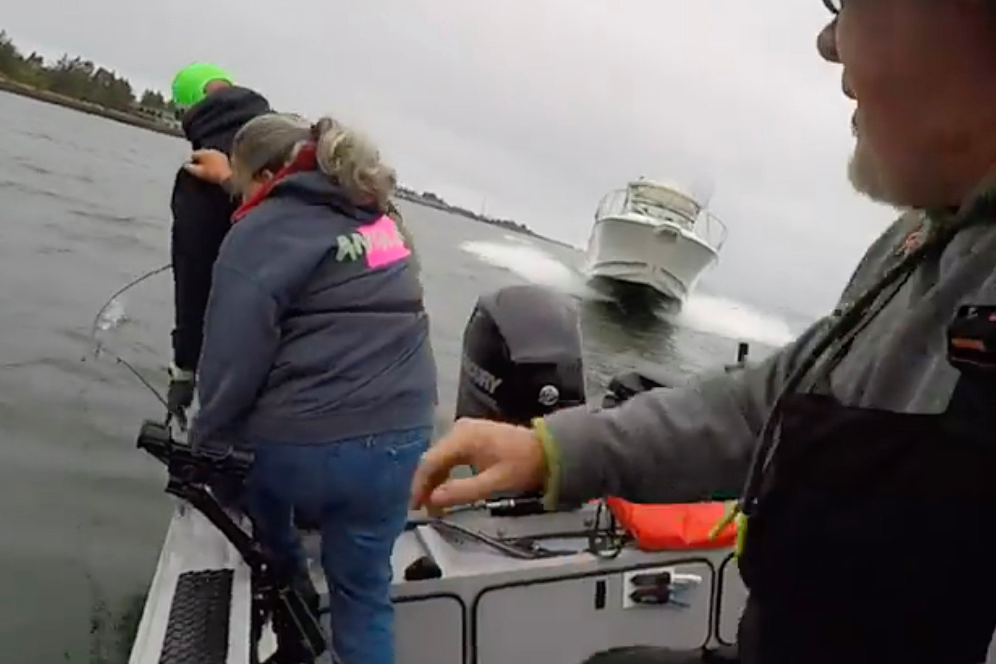 Fisherman sues after dramatic boat crash caught on video