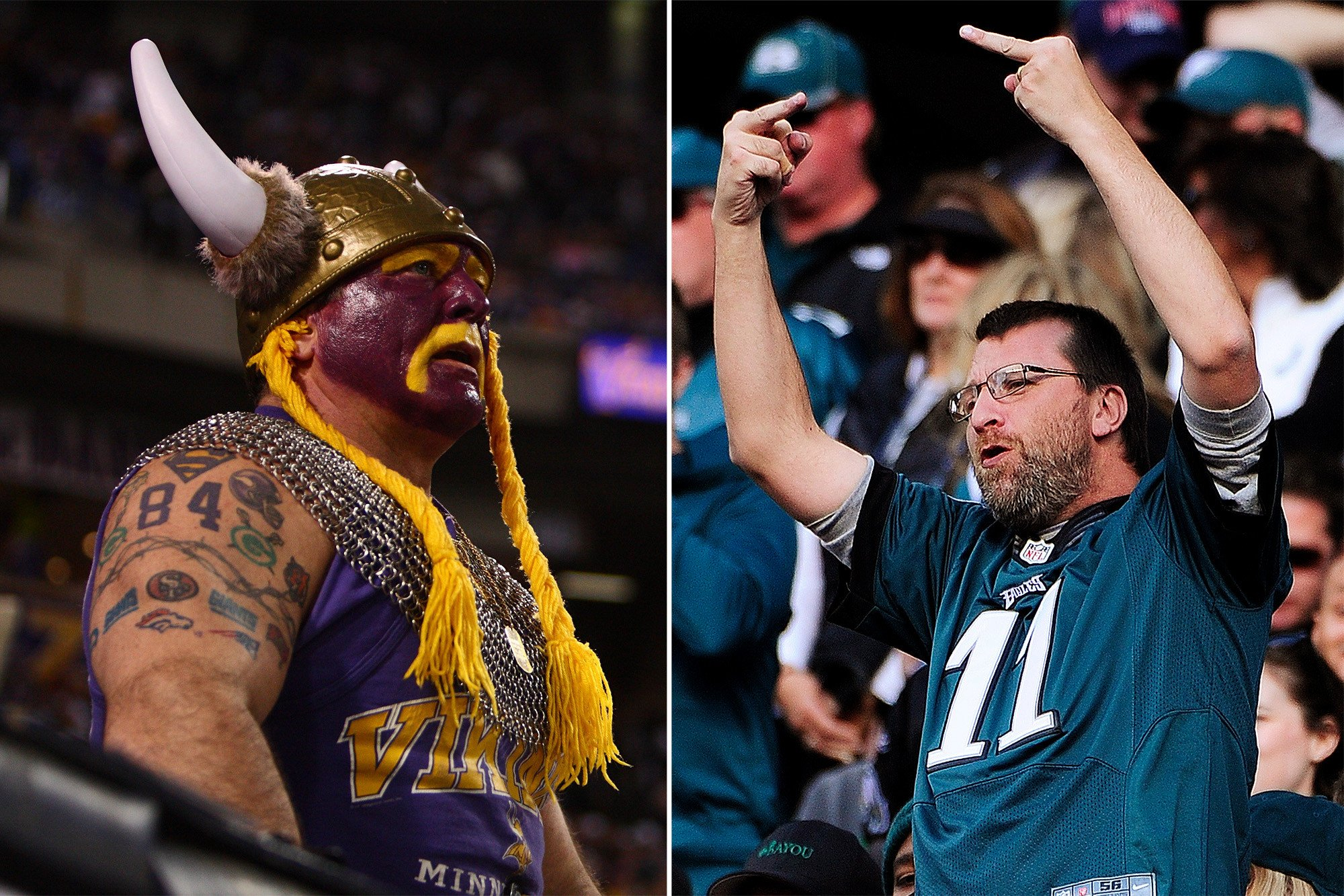 Vikings fans headed to Philly told to be very afraid of Eagles fans