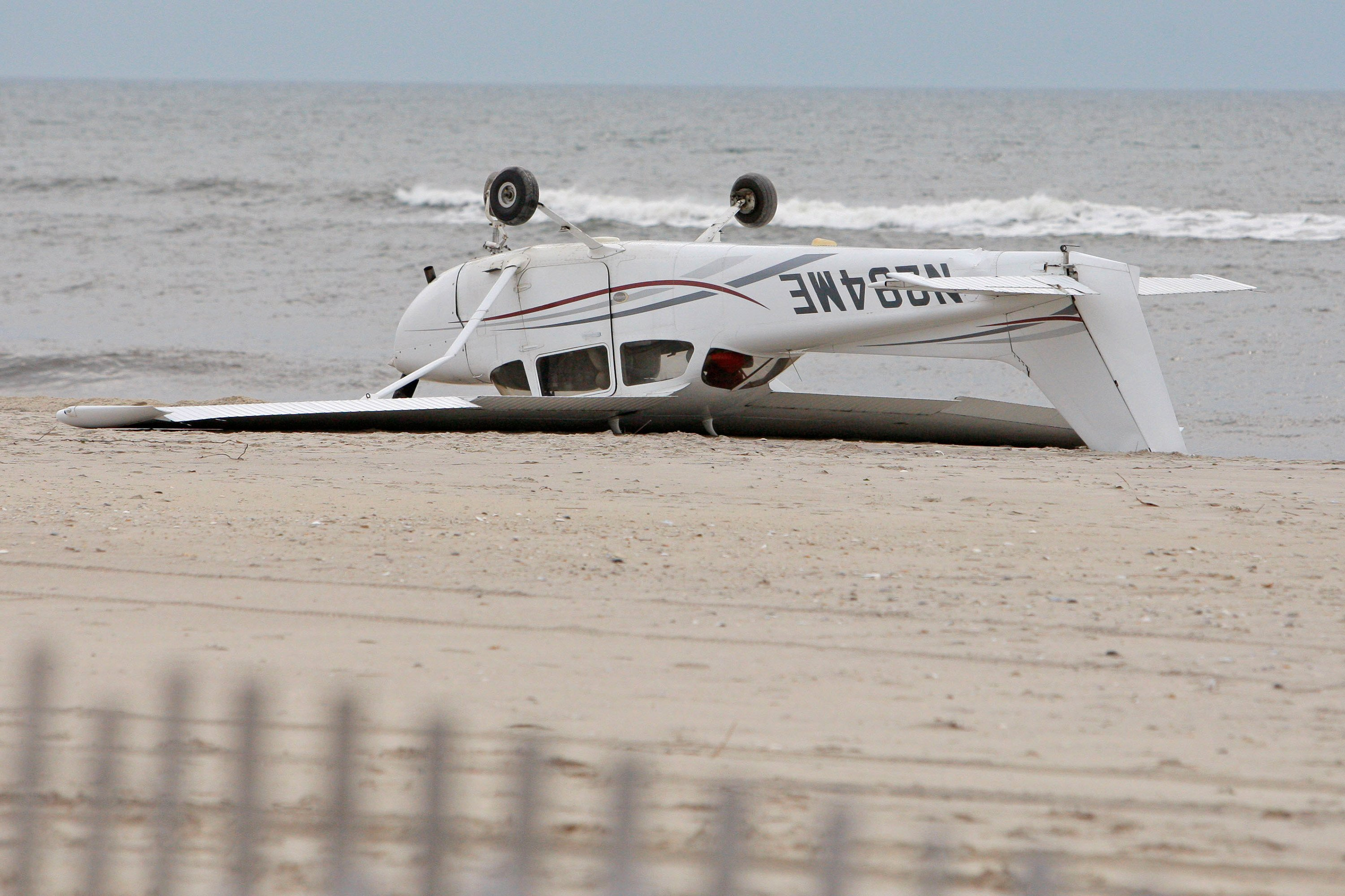 Plane flown by teen makes emergency landing on beach