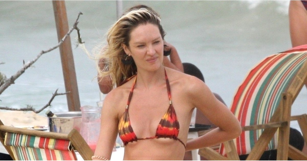 This Victoria's Secret Model Drew the Attention Straight to Her Baby Bump in a Teeny-Tiny Bikini