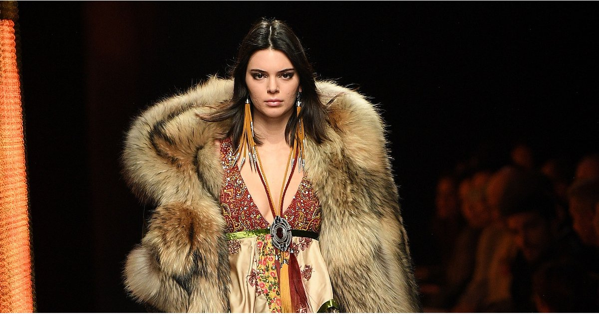 Kendall Jenner Dominated the Dsquared2 Runway in the Furriest Coat We've Ever Seen