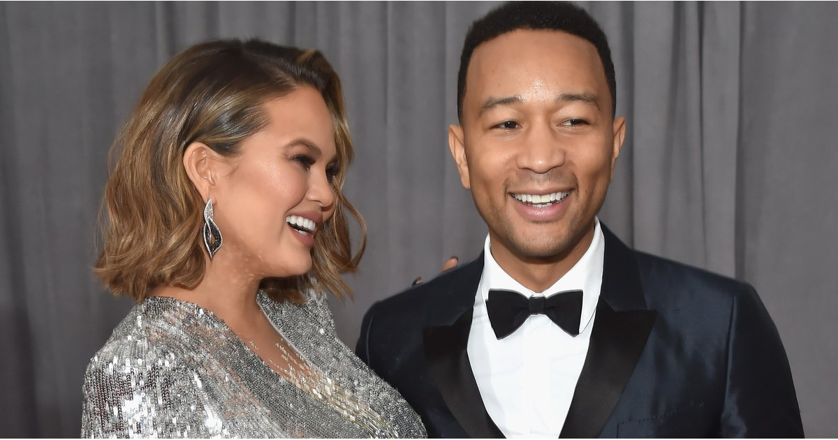 All Eyes Were on Chrissy Teigen's Glittering Baby Bump at the Grammys