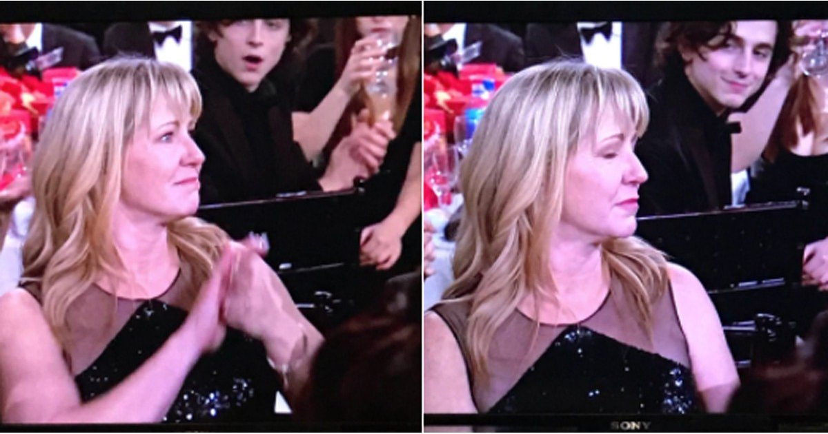 Timothée Chalamet's Reaction to Seeing Tonya Harding at the Golden Globes Will Make You LOL