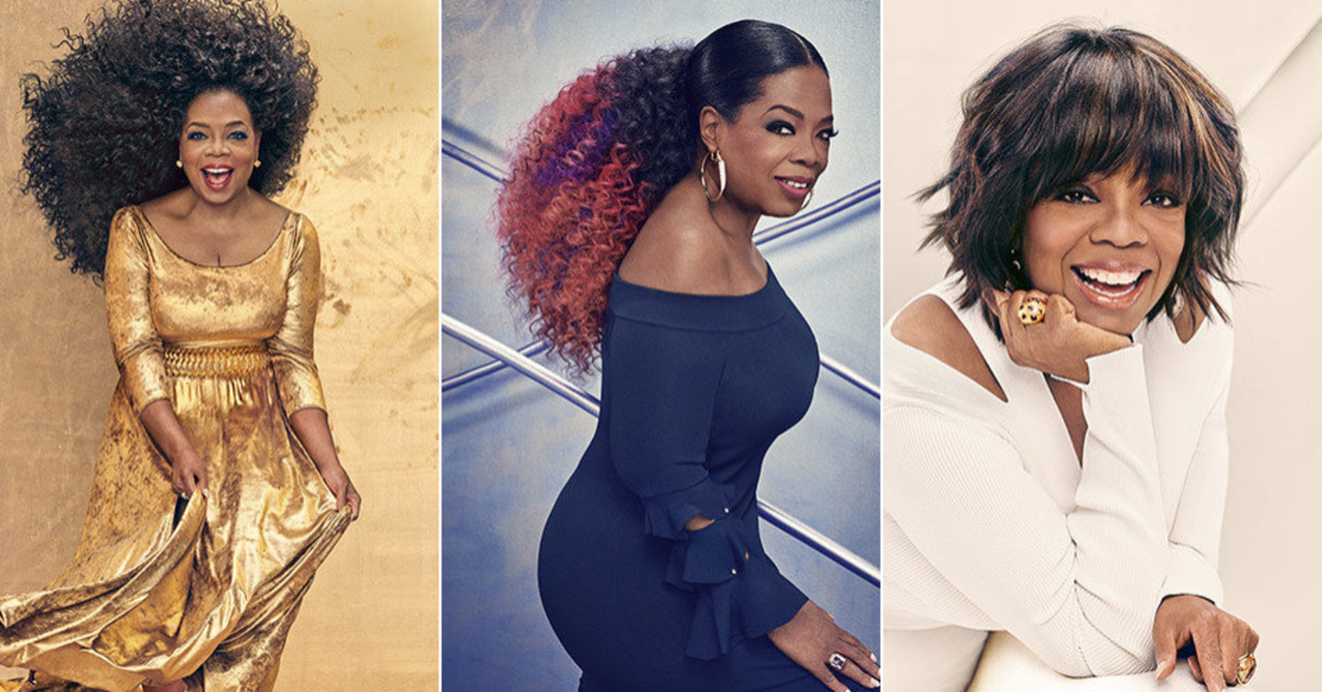 Oprah Tries Three Glam Looks In The New Issue Of O Magazine