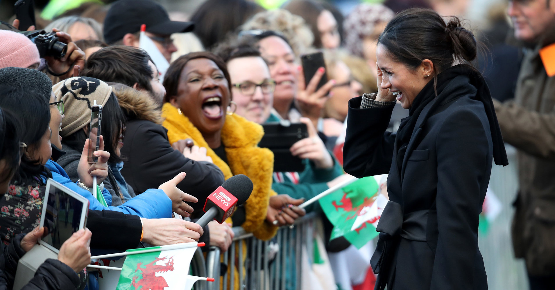 These Fans Meeting Prince Harry And Meghan Markle Just Couldn't Contain Their Glee