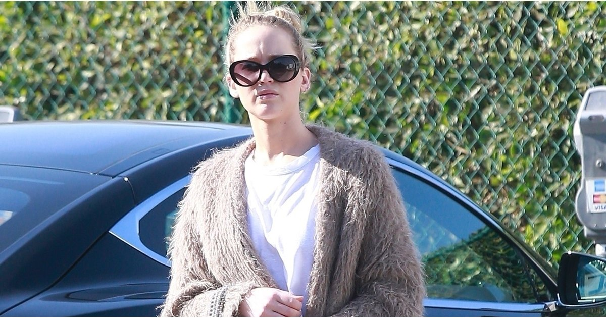 Jennifer Lawrence's Shoes Caught the Eyes of Everyone in Beverly Hills For a Funny Reason