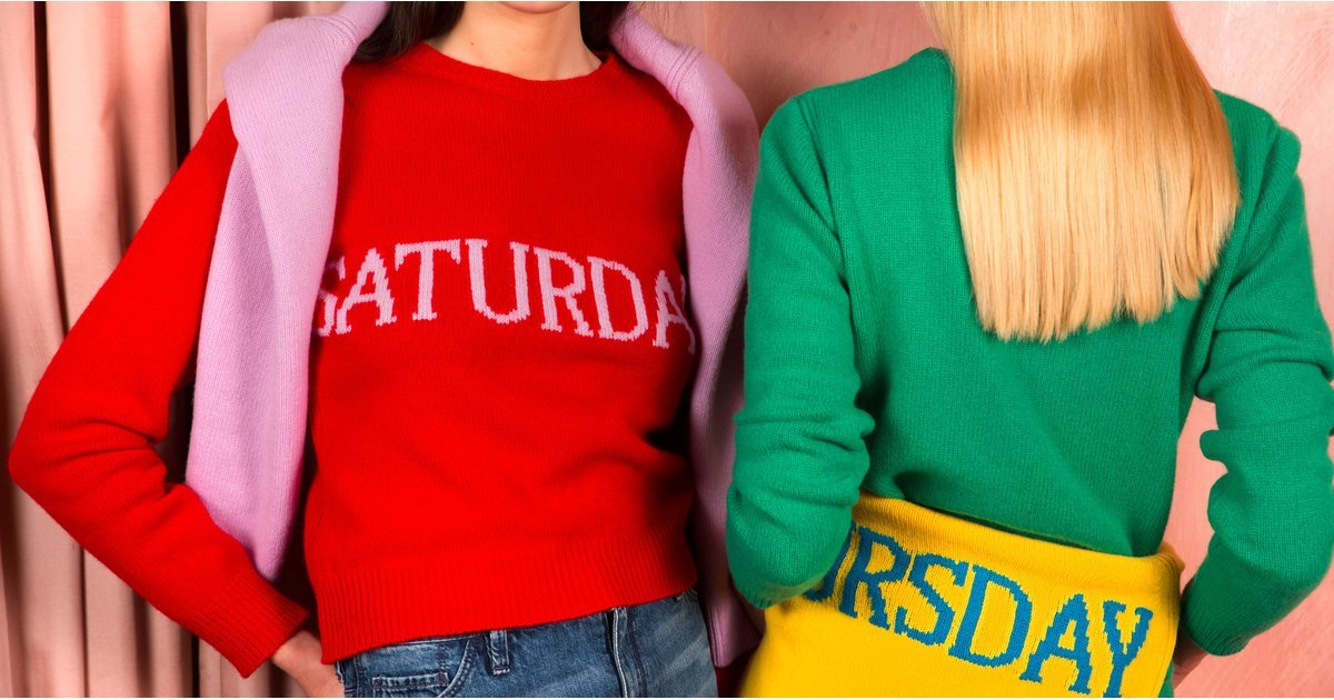 "The ""Days of the Week"" Sweater You're Seeing Everywhere"