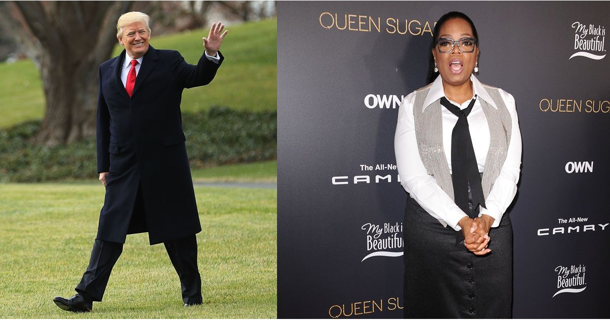 "Donald Trump Says He'd ""Beat"" Oprah If She Ran For President in 2020"