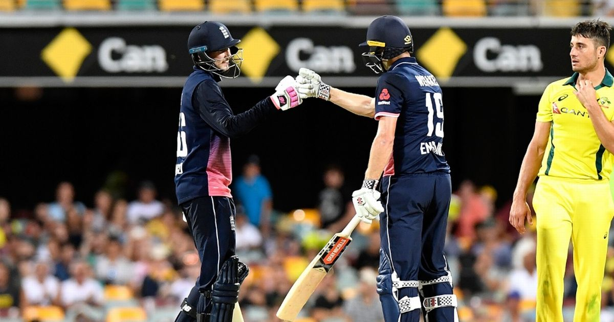 Bairstow and Hales hit half-centuries as England beat Australia by four wickets