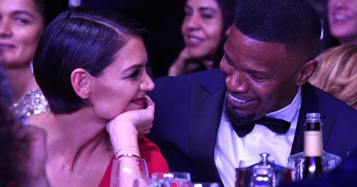 An adorable Katie Holmes and Jamie Foxx pack on PDA in rare public appearance