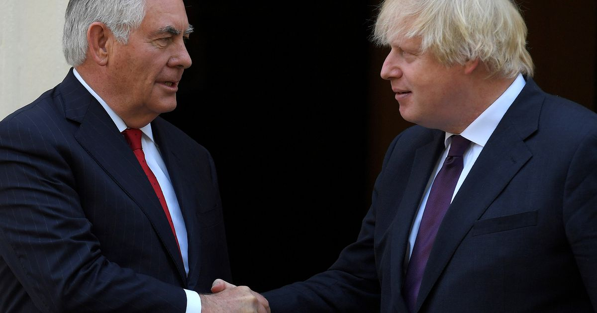 Trump's Secretary of State Rex Tillerson visits London for talks with Boris