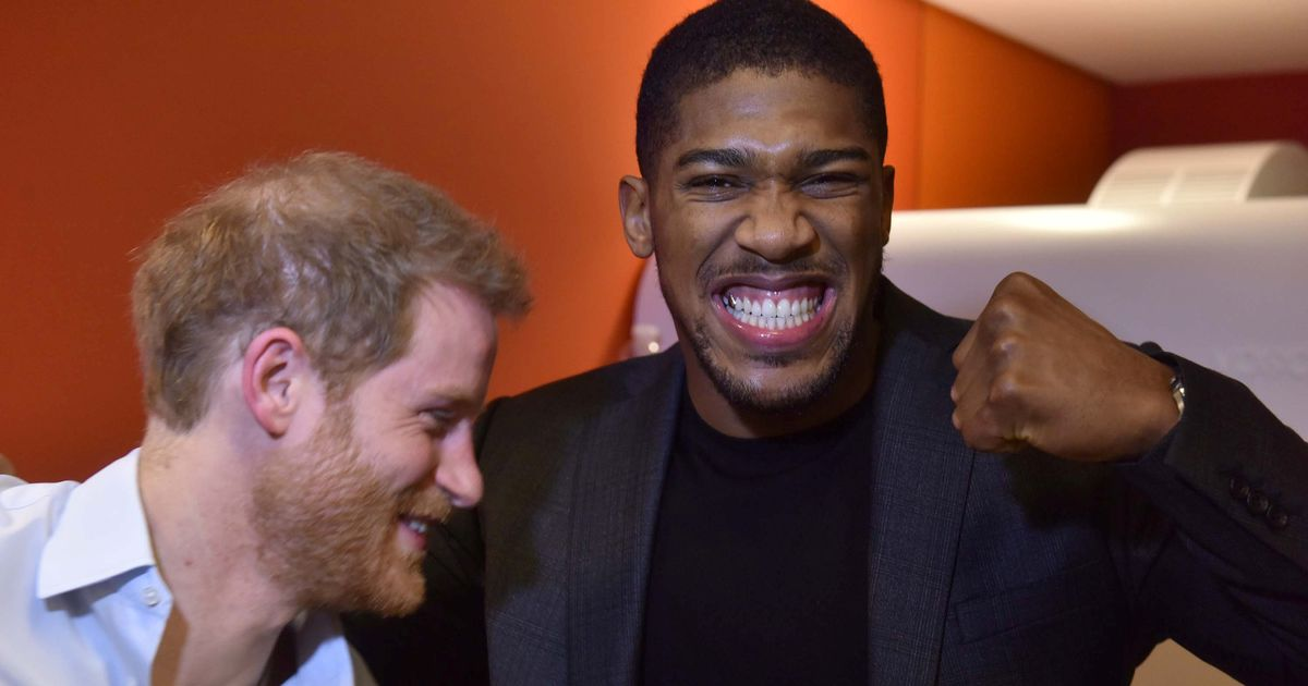 Anthony Joshua bans Prince Harry from his fight – and reason's a little cheeky