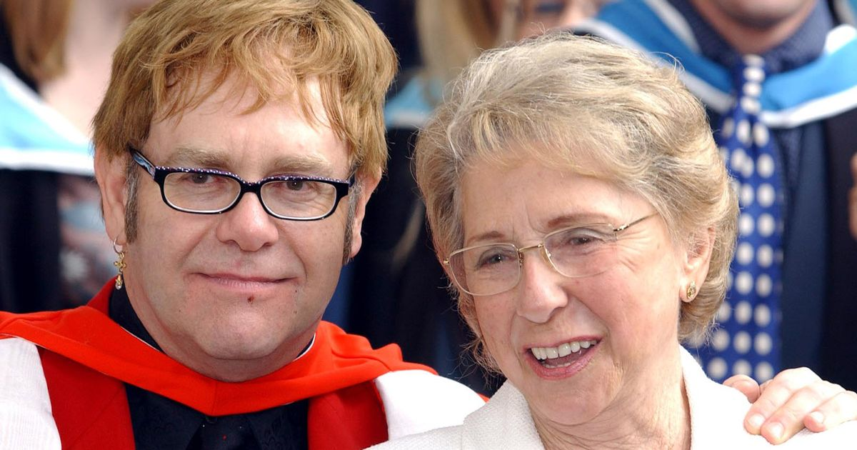 Elton John lays formerly estranged mum to rest after her death aged 92