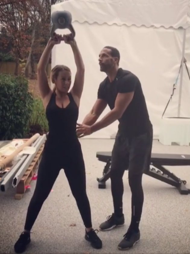 Fans mock Rio Ferdinand and Kate Wright's workout after they notice THIS