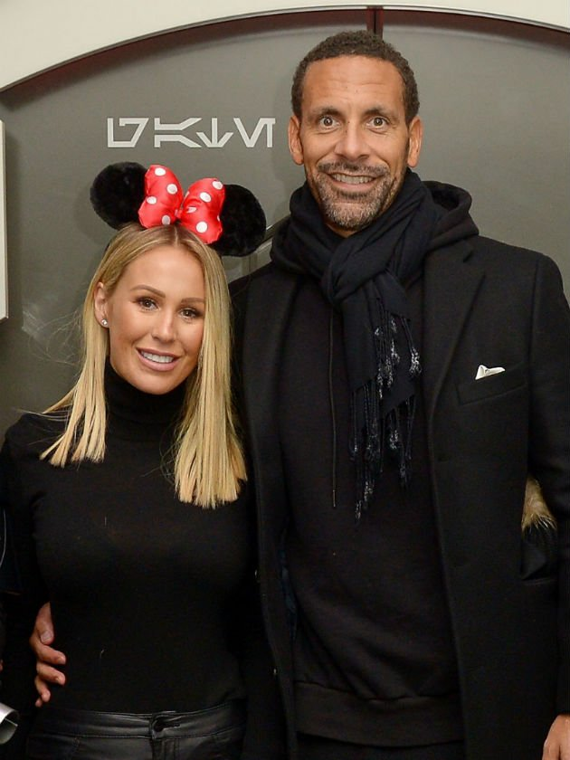 Kate Wright and Rio Ferdinand put on adorable PDA at Disneyland Paris