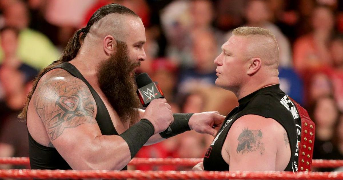 Brock Lesnar appeared to shoot on Braun Strowman at the Royal Rumble