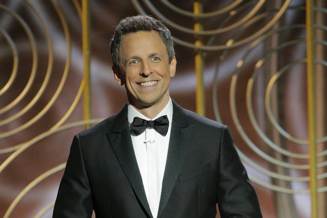 Seth Meyers Targets Harvey Weinstein, Donald Trump, and Kevin Spacey During Golden Globes