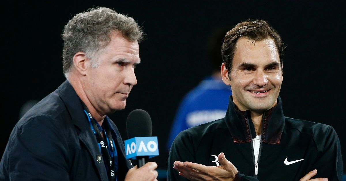 Roger Federer is a perfect match for Will Ferrell's Anchorman-style grilling