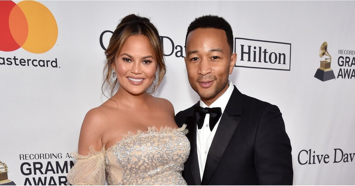 Hot DAMN — Chrissy Teigen Showed Off Her Baby Bump in This Sexy, Sheer Gown