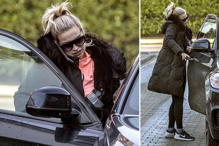 Ferne McCann looks tense during day out in Essex days after it's revealed baby daughter Sunday visits her acid attacker dad Arthur Collins in jail