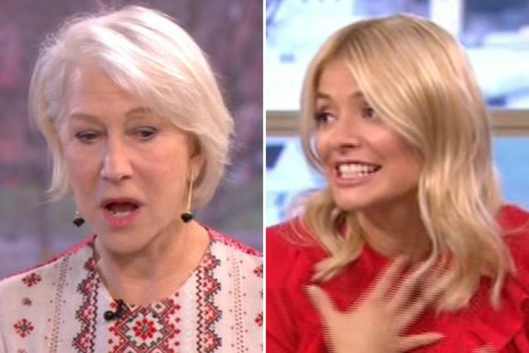 Holly Willoughby left terrified and sweating as Helen Mirren recalls ghost story from her wedding night on This Morning
