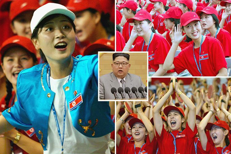 Kim Jong-un handpicks army of beauties to cheer on North Korean athletes at the 2018 Winter Olympics in South Korea