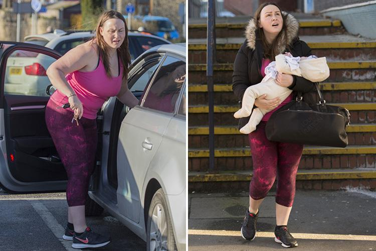 Chanelle Hayes goes make-up free as she hits the gym after welcoming son Frankie and vowing to get back in shape