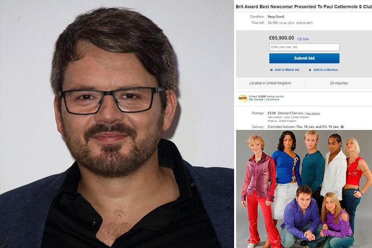 S Club 7's Paul Cattermole forced to put Brit Award back up on eBay after £65k bidder fails to pay