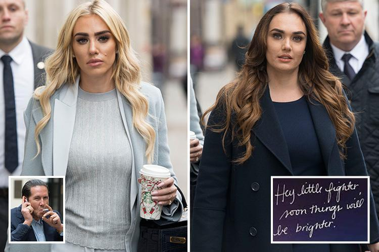 Tamara Ecclestone supports sister Petra as she arrives at High Court for latest £5.5m divorce battle with James Stunt
