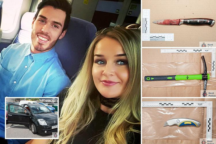 Blood-soaked Asda knife and pickaxe 'jealous ex used to slit girlfriend's throat when she dumped him'