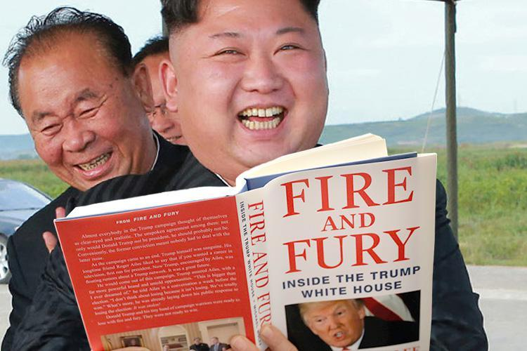 Kim Jong-un gloats that Donald Trump is 'being massively humiliated worldwide' by bombshell Fire and Fury book