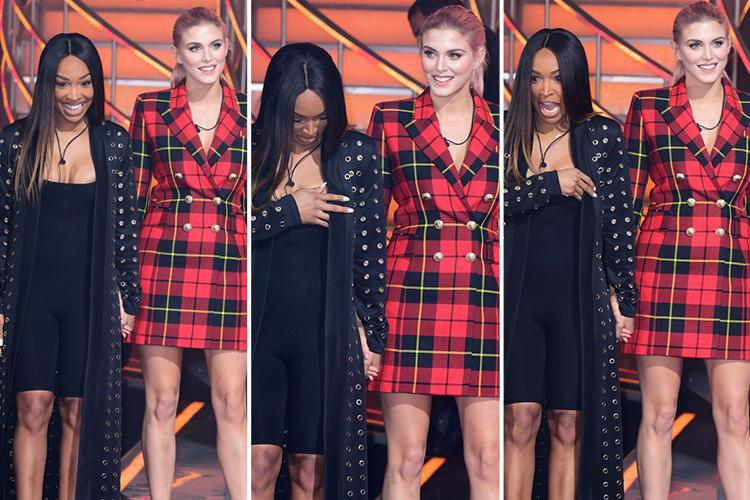 Celebrity Big Brother's Malika Haqq accidentally flashes her nipple after being evicted