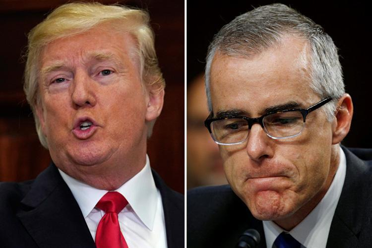 FBI deputy director Andrew McCabe quits after attacks from Donald Trump – but White House insists President was NOT involved in decision