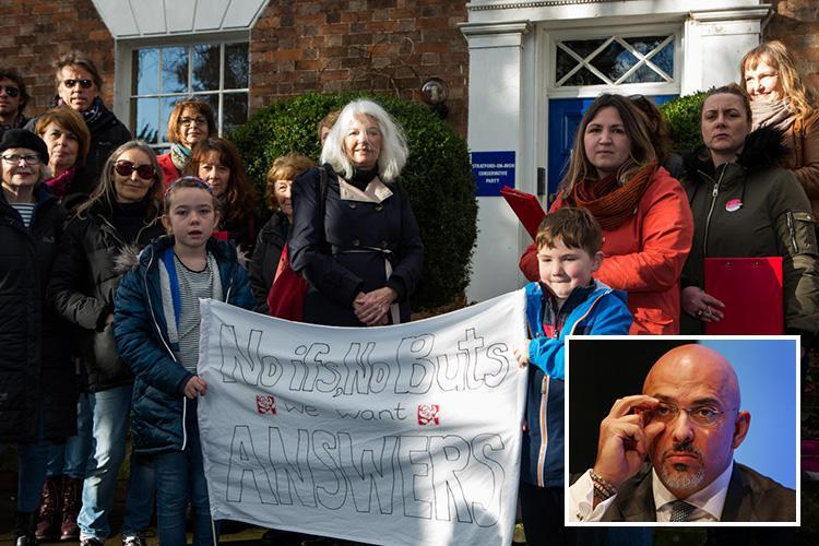 Protesters target office of Tory minister who was at Presidents Club dinner but claims 'he left early'