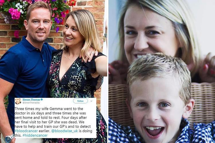 Simon Thomas reveals wife was repeatedly sent home by GPs and told to rest days before tragic blood cancer death