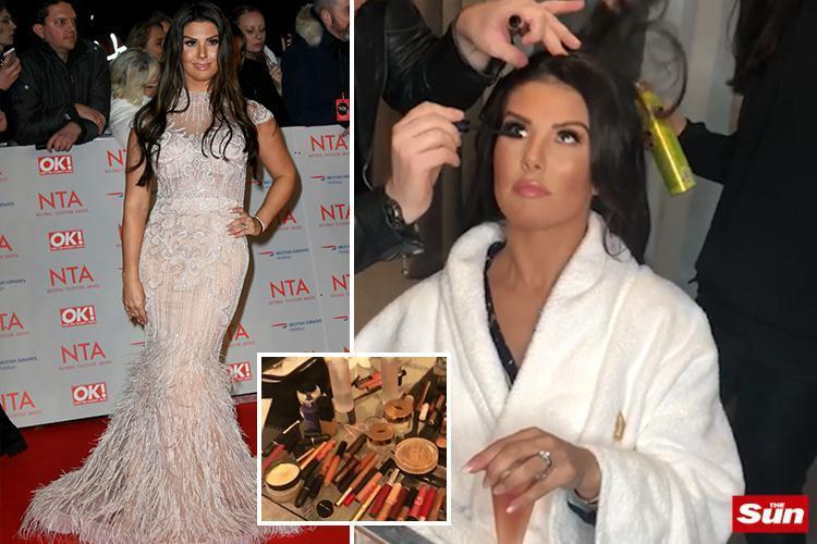 Rebekah Vardy reveals how red carpet transformations really happen as she gives behind the scenes look at her National Television Awards makeover