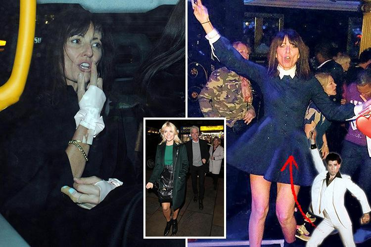 566c7daa3f1 Newly-single TV host Davina McCall shows off her Saturday Night Fever dance  moves at