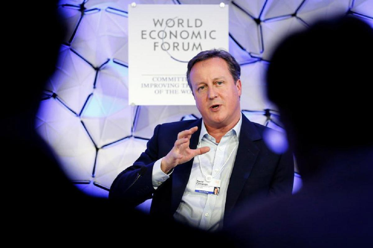 David Cameron caught on a microphone at Davos admitting Brexit has 'turned out not as badly as we thought'